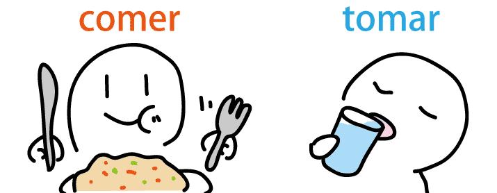 スペイン語 食べる 飲む 単語