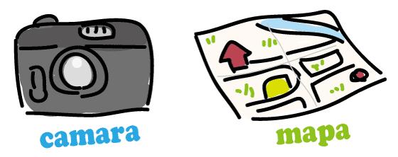 スペイン語 カメラ 地図 単語
