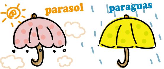 スペイン語 傘 日傘