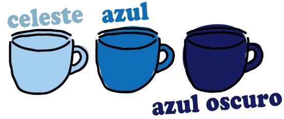 スペイン語 水色 青 紺