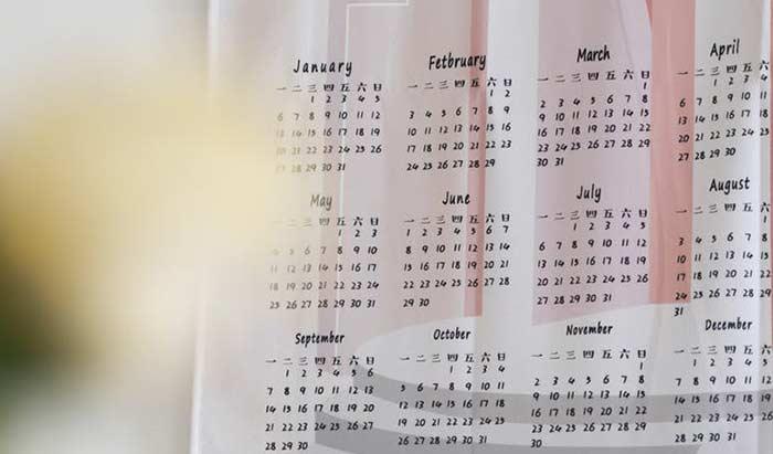 スペイン語でカレンダー