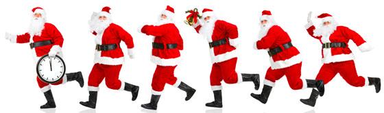 クリスマスのサンタクロースたち