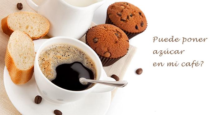 Puede poner azúcar en mi café? スペイン語