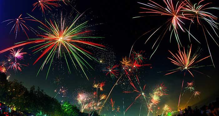 綺麗な花火の写真
